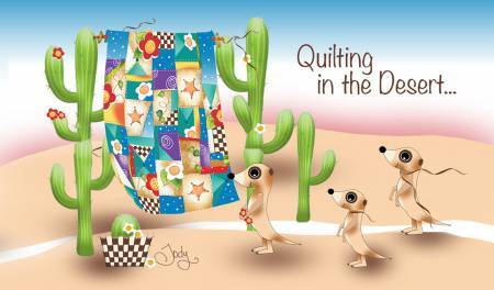 Quilting in the desert - Magnet