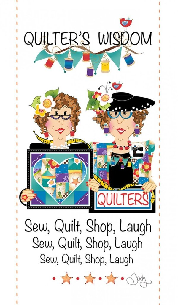 Quilt, shop, laugh - Magnet
