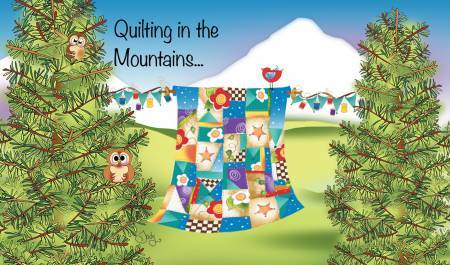 Quilting in the mountains - Magnet