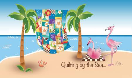 Quilting by the sea - Magnet