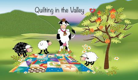 Quilting in the valley - Magnet