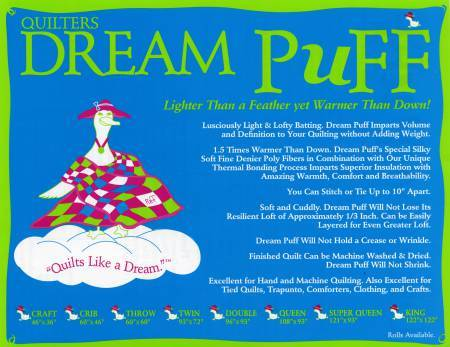 Quilters Dream  Puff - POLYESTER Twin